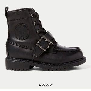 Polo Ralph Lauren toddler Ranger boots 🖤🖤